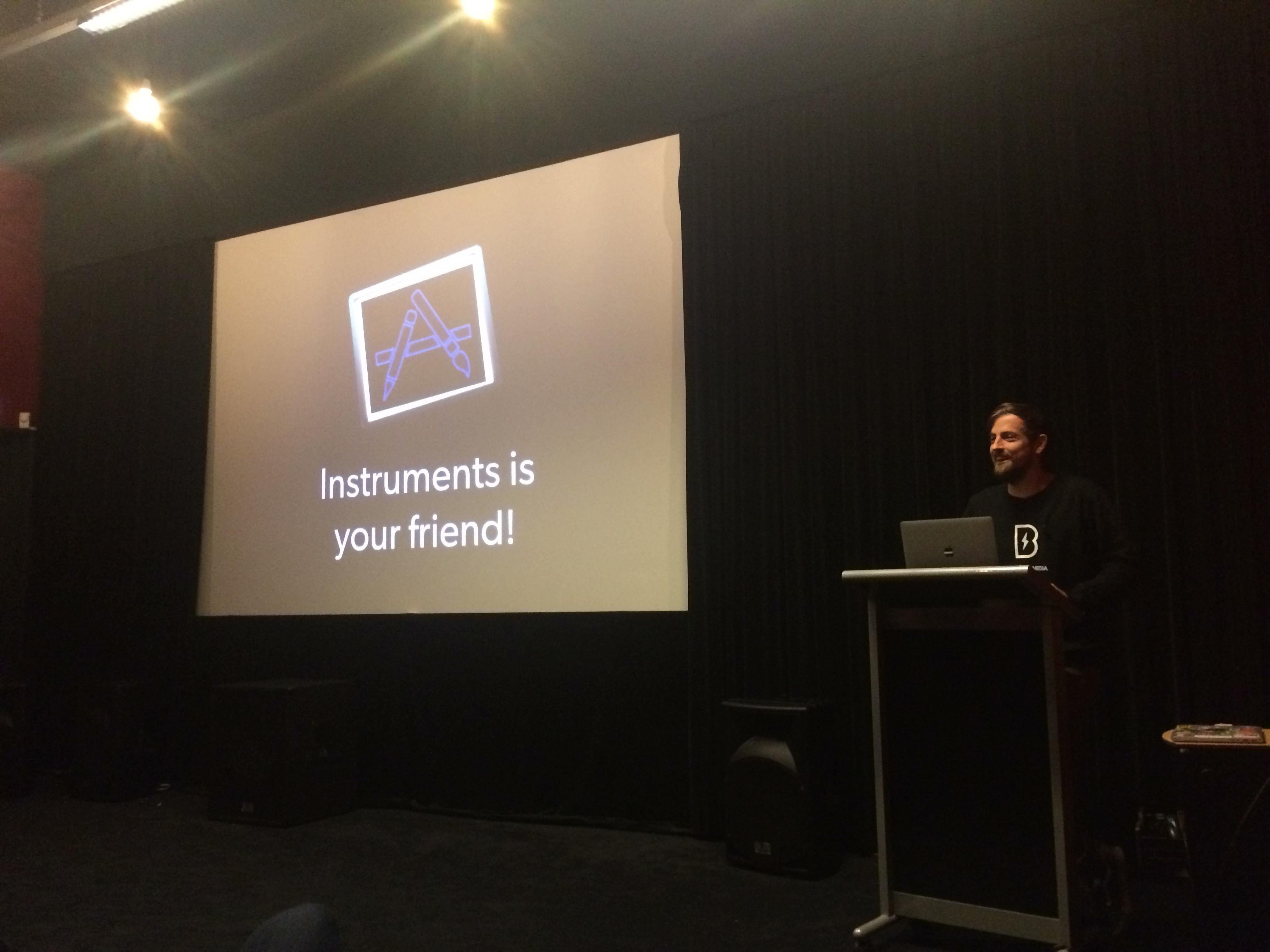 Erwin presenting