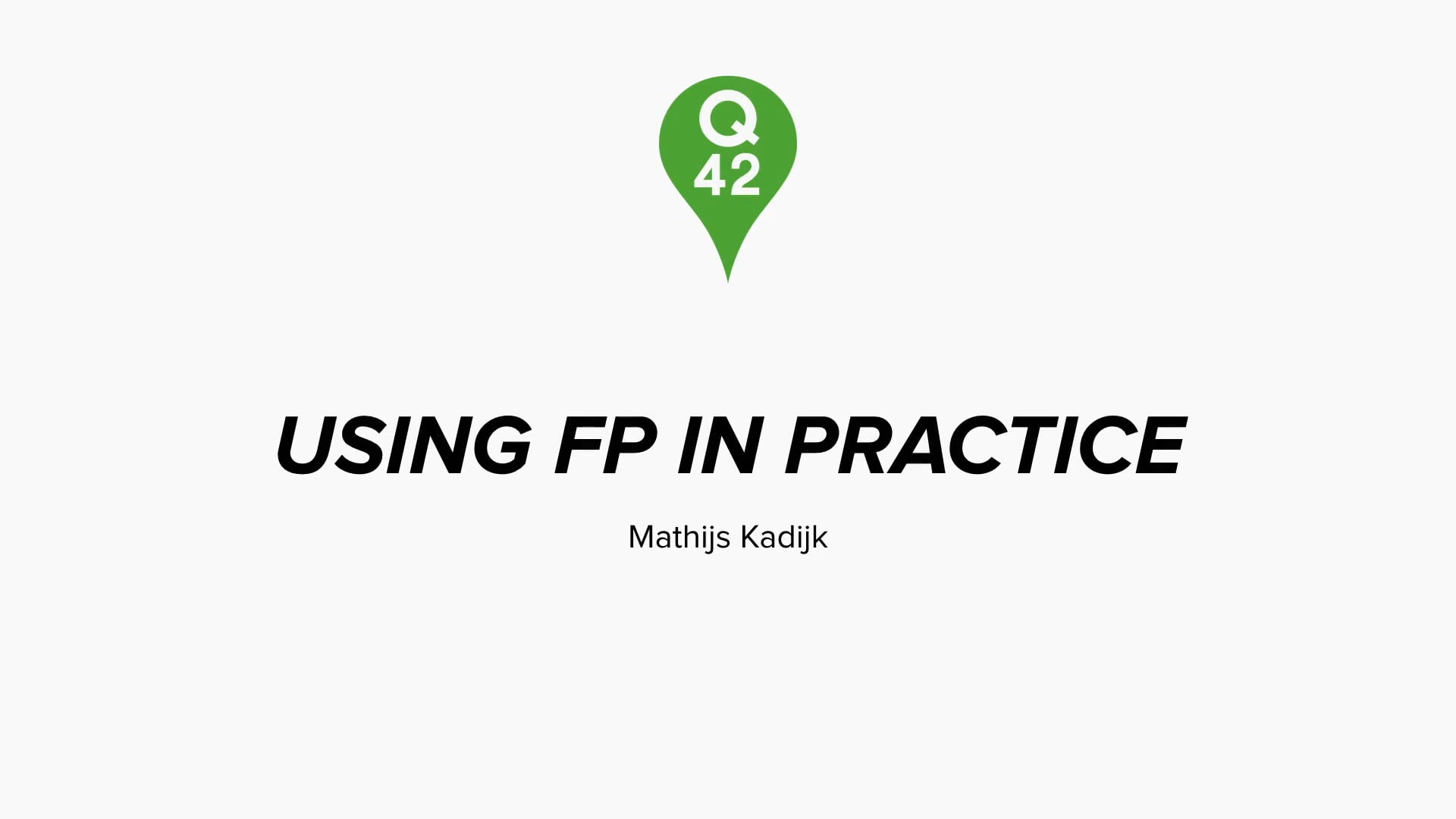 Using FP in practice